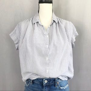 Madewell Central Button Down in Benton Stripe